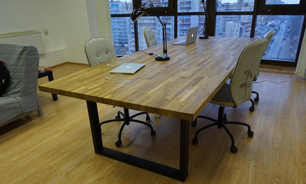стол из мебельного щита